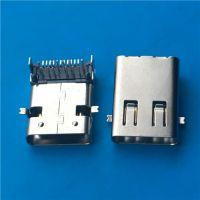 TYPE-C 3.1母座L=11.95mm加长USB 3.1前脚贴-后脚插 24P前插后贴