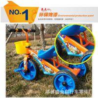 厂家直销大三角带推把批发可坐儿童三轮车三轮脚蹬车童车