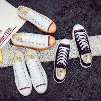 远步夏季韩版街拍小白鞋女2017新款百搭帆布鞋学生平底休闲白鞋子