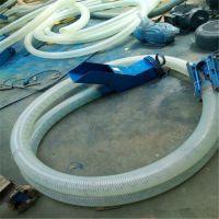 小型车载吸粮机定制 8米长软管吸料机 管式锯末送料机汇创定制