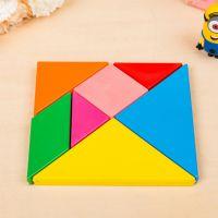 儿童益智玩具创意智力七巧板 早教拼图 彩色积木 美术用品蜡笔