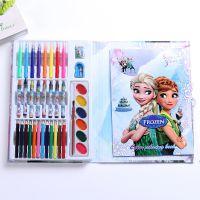 厂家批发儿童画画本36色水彩笔套装 小学生文具奖品 幼儿园生日礼