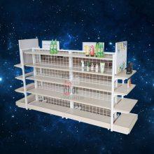 化妆品中岛货架 母婴文具店双面钢木中岛货架货柜 化妆品中岛柜