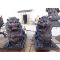 大型铜雕狮子-博轩铜雕厂