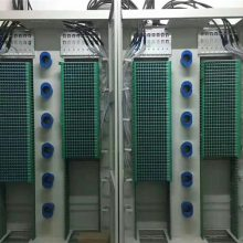 双排光纤配线架1440芯直插式光纤机柜 优质镀锌板喷塑配线架
