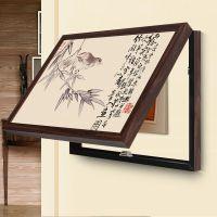 现代新中式餐厅开关禅意电盒子遮挡装饰画电表箱客厅电柜配电挂画