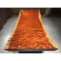 厂家直销巴花实木大板桌248长103宽 原木茶桌办公桌 简约现代