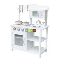 批发六一儿童节过家家厨房套装灶台 木制过家家做饭玩具 小厨房