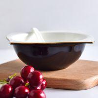 浩新批发骨瓷海派碗 陶瓷酒店4.5米饭碗 金边碗盘碟套装定制餐具logo