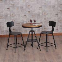 西安厂家直销工业风铁艺桌椅奶茶店甜品店咖啡厅西餐厅火锅店桌椅组合