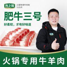 海之隆清真牛肉肥牛三号砖 火锅食材涮肉切卷冷冻工厂批发肥牛3号