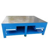 电木板台面钢板装配台,铸铁加厚面工作台,复合胶皮桌面工作台深圳厂家