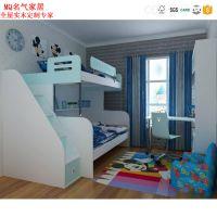 时尚简约儿童床 上下铺可定制子母床带护栏双层高低实木床订做