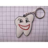 PVC卡通QQ钥匙扣,PVC软胶牙齿钥匙扣,牙科空腔科礼品钥匙扣