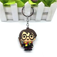 3D立体创意哈利波特软胶单面图案制钥匙扣吊坠项链饰品动漫周边