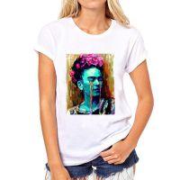 夏季爆款热销卡通墨西哥弗里达·Frida 圆领女士T恤