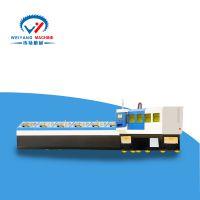 6米上料架全自动送料大功率激光切管机 适合小型企业的切割机纬扬机械