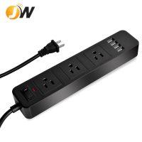 创意款USB三孔地拖排插多功能英规充电插排带USB家用电源接线板带2米线