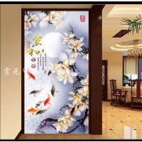 霍元甲瓷砖 现代简约高清客厅背景墙高清彩雕玄关花卉