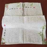 舒适磁疗亚麻席三件套枕巾床单中老年礼品厂家直销