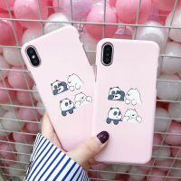 可爱粉色小熊6plus苹果x手机壳iPhone7plus 6s女款半包i8磨砂硬壳