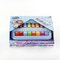迪士尼冰雪奇缘多功能8音趣味彩色敲琴 儿童塑胶八音琴乐器玩具