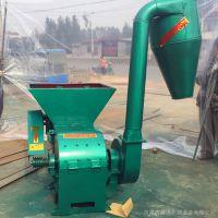 柴油机带沙克龙粉碎机 自动绞龙式秸秆草秧破碎机