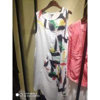 大码女装品牌折扣茉然真丝夏朴素中款连衣裙服装批市场