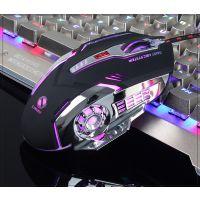 力美V2有线机械游戏电竞台式电脑英雄联盟USB侧翼鼠标一件代发