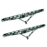 花生瓜子装车皮带输送机 挡板物料皮带机 网带式提升输送机