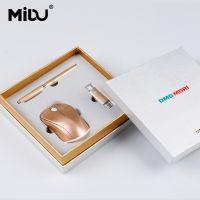厂家直销无线鼠标礼品套装 可定制logo商务会议无线鼠标三件套套