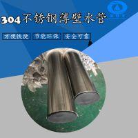 卫生级不锈钢饮用水管DN40x1.2薄壁水管 佛山不锈钢饮用水管
