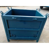 科储铁板箱、金属周转箱折叠铁箱非标堆垛箱厂家低价直销铁箱自卸产品箱