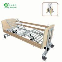 HR-863医院电动病床五功能电动家居护理床养老院用品疗养木床折叠床