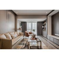 春森彼岸四居室|现代港式轻奢风格装修|实景案例图