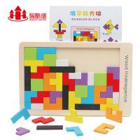 儿童益智俄罗斯方块 RB76 早教木制玩具宝宝拼图拼板积木批发