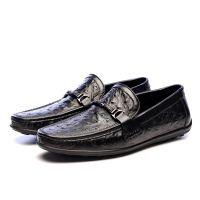 头层牛皮时尚新款压鸵鸟纹牛皮内里按摩式牛皮鞋垫