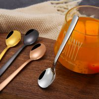 304不锈钢勺子创意咖啡勺二齿水果叉咖啡勺搅拌勺