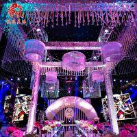 婚庆装饰用品亚克力装饰珠链 迎宾区摆件吊饰品 仿水晶珠串定做