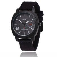速卖通热销时尚运动手表 商务休闲三眼六针男表 男士布带军表