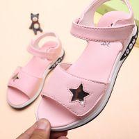 女童鞋子夏季凉鞋2018新款韩版中大童公主防滑软底学生露趾沙滩鞋
