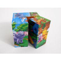 六面画立体3D拼图积木儿童玩具早教益智动漫图案拼图一件代发