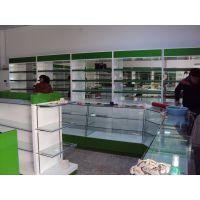 整体设计装修健康中心药店药品展示柜 烤漆木质玻璃货柜 药房货架