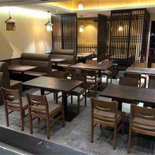 惠州日式风味餐厅家具定制,寿司店沙发桌子椅子批发