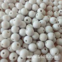 厂家直销 亚克力实色圆珠 小孔圆形珠 DIY儿童串珠 可定制图样