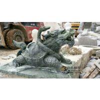 汉白玉招财龙头龟吐水喷水别墅花园喷泉古建园林喷水石雕龟 玖坊雕塑