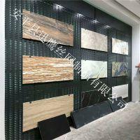 黑色陶瓷展柜尺寸冲孔板挂钩瓷砖架子 张家港市800800墙砖展示板