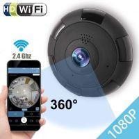 无线摄像头V380 360°全景红外网络监控摄像机工厂批发家用商用