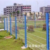 供应桥梁防眩网框架浸塑护栏网 绿色三角折网圈地护栏网