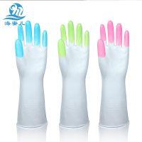 家务洗碗手套炫指厨房塑胶清洁乳胶胶皮防水加厚家用洗衣橡胶手套